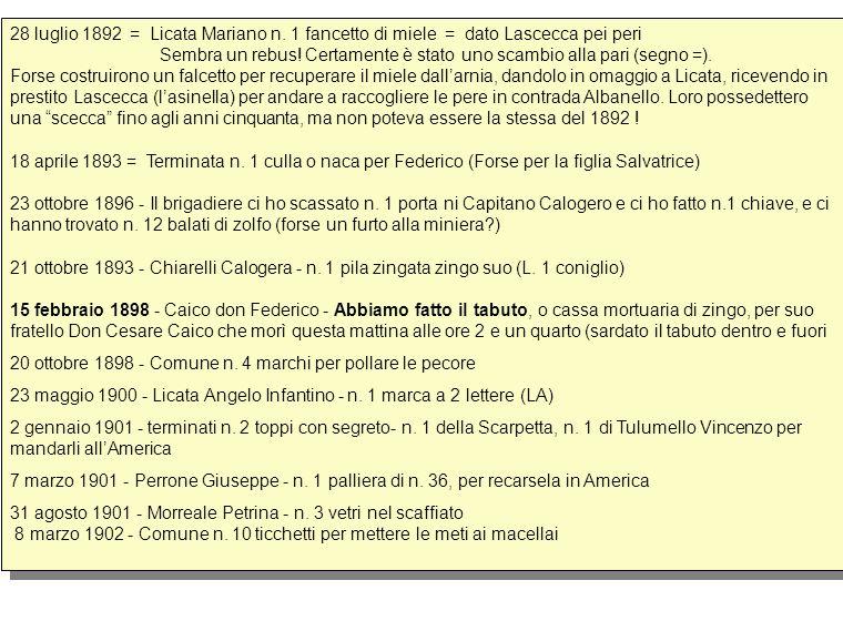 28 luglio 1892 = Licata Mariano n