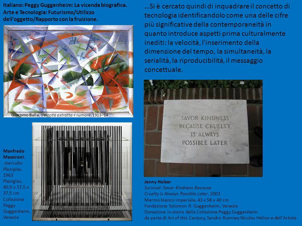 Italiano: Peggy Guggenheim: La vicenda biografica