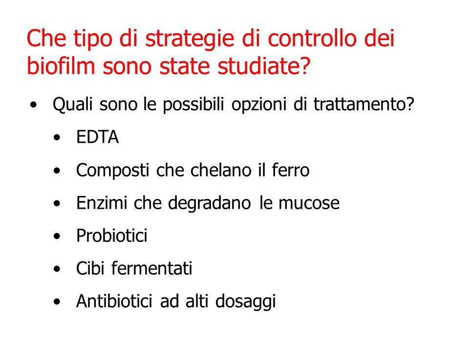Che tipo di strategie di controllo dei biofilm sono state studiate