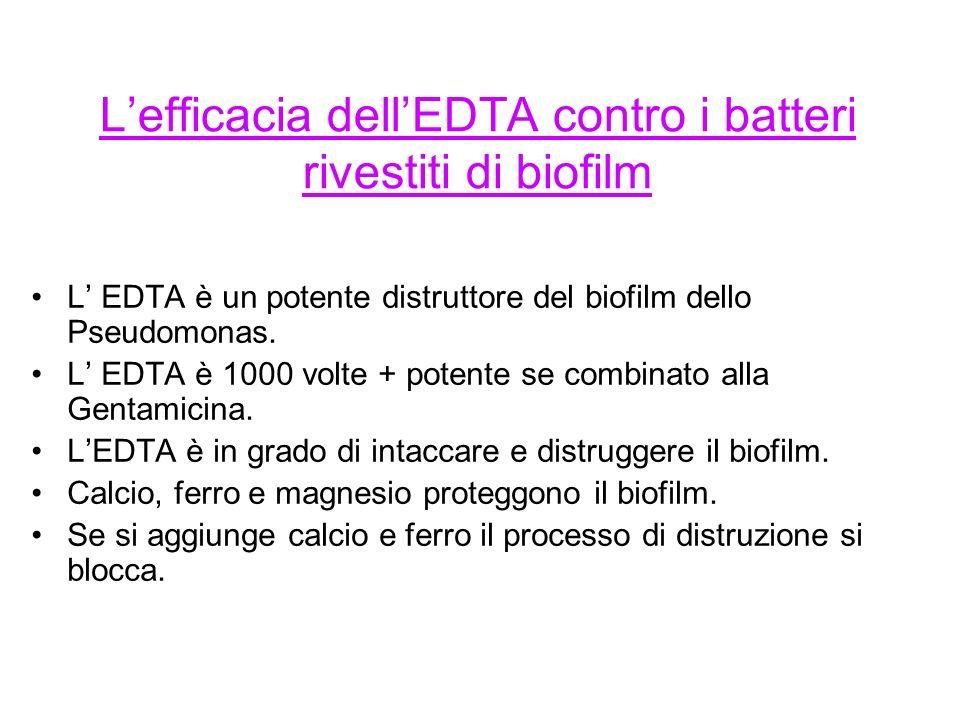 L'efficacia dell'EDTA contro i batteri rivestiti di biofilm
