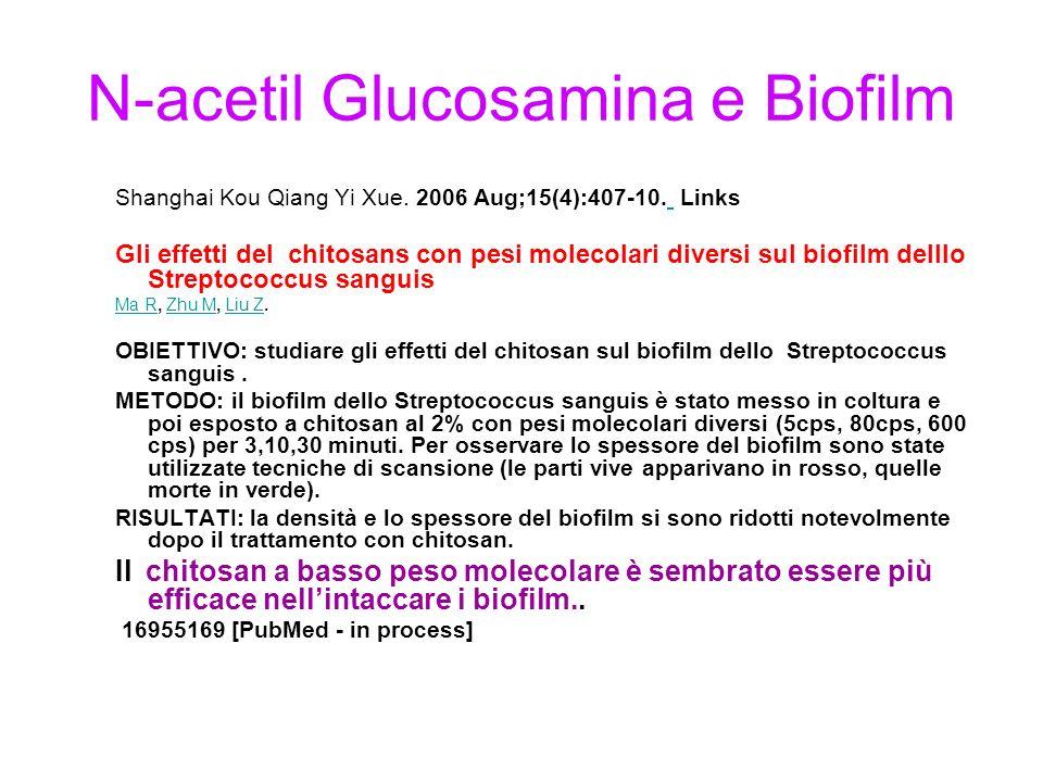 N-acetil Glucosamina e Biofilm