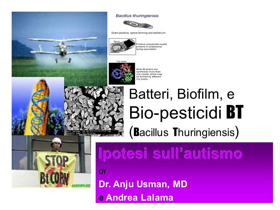 Batteri, Biofilm, e Bio-pesticidi BT (Bacillus Thuringiensis)