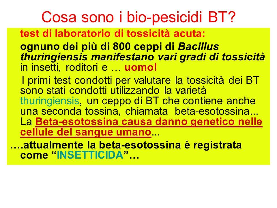 Cosa sono i bio-pesicidi BT