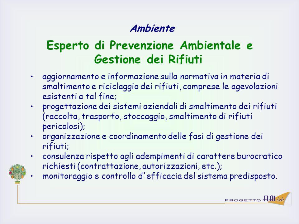 Esperto di Prevenzione Ambientale e Gestione dei Rifiuti
