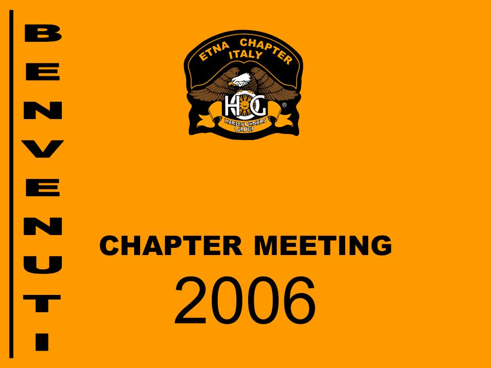BENVENUTI CHAPTER MEETING 2006