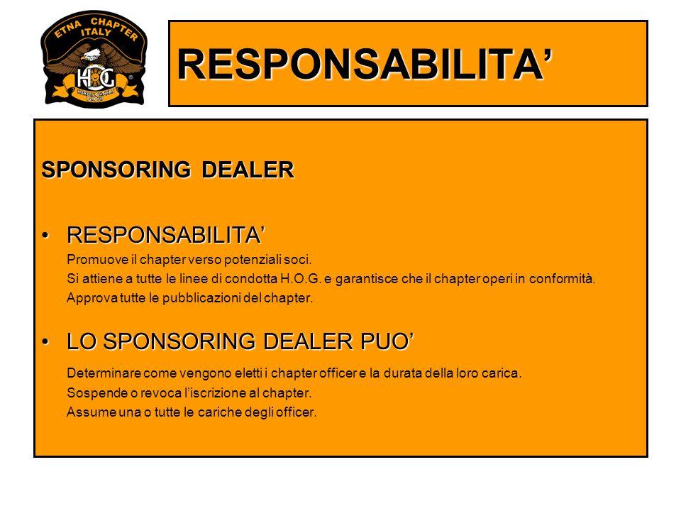 RESPONSABILITA' SPONSORING DEALER RESPONSABILITA'