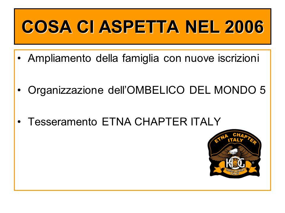 COSA CI ASPETTA NEL 2006 Ampliamento della famiglia con nuove iscrizioni. Organizzazione dell'OMBELICO DEL MONDO 5.