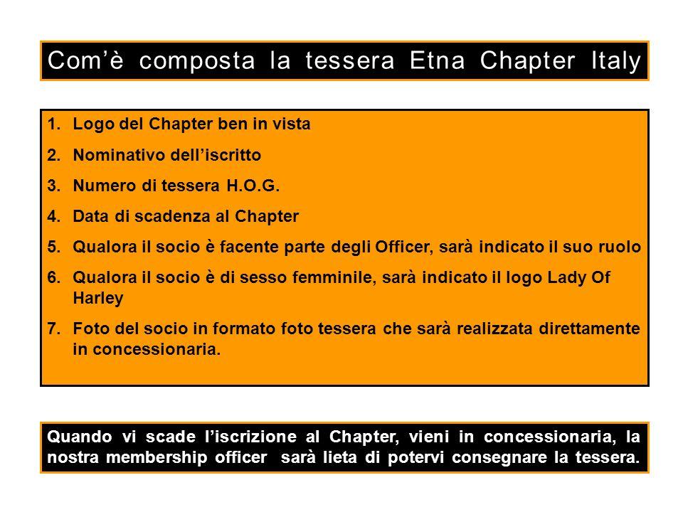 Com'è composta la tessera Etna Chapter Italy