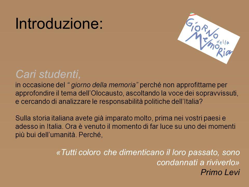 Introduzione: Cari studenti,