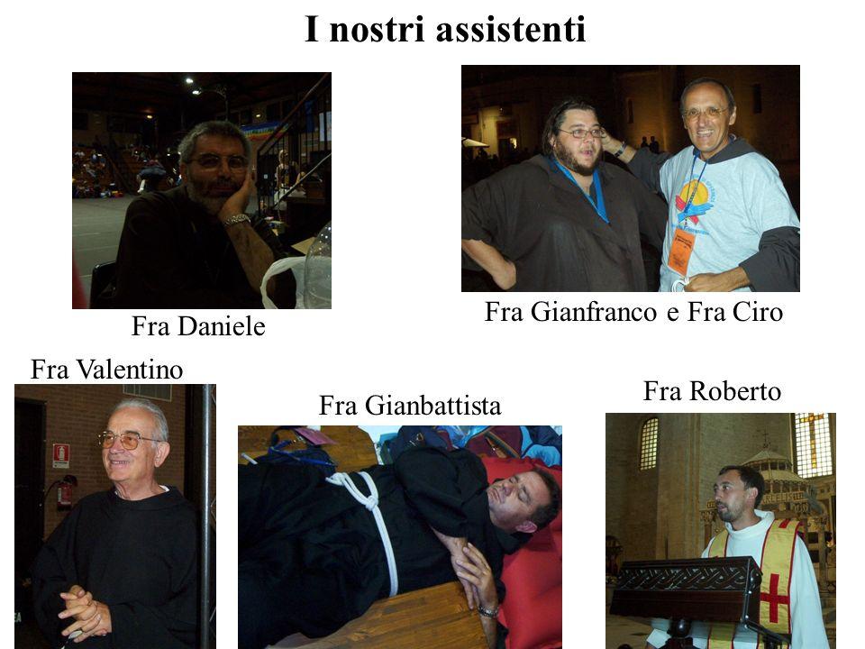 I nostri assistenti Fra Gianfranco e Fra Ciro Fra Daniele