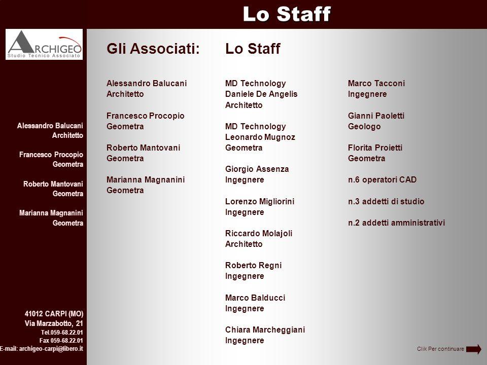 Lo Staff Gli Associati: Lo Staff Alessandro Balucani Architetto