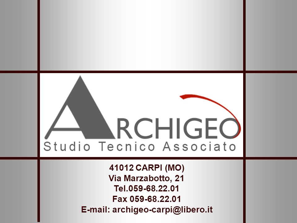 E-mail: archigeo-carpi@libero.it