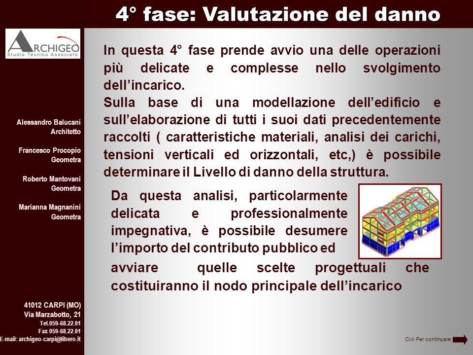 4° fase: Valutazione del danno