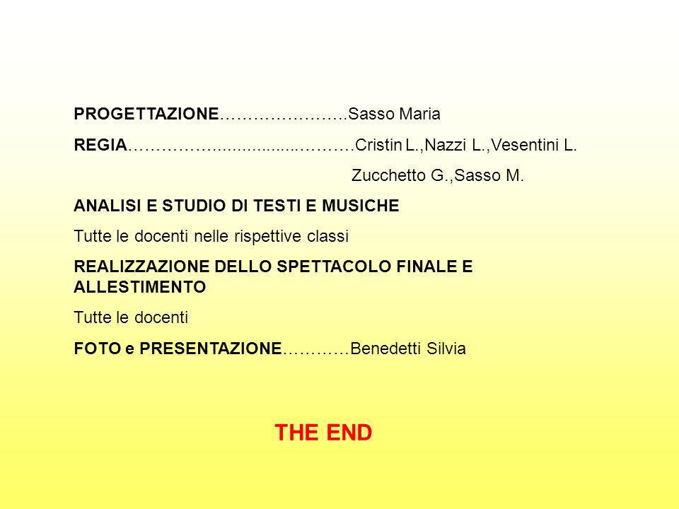 THE END PROGETTAZIONE…………………..Sasso Maria