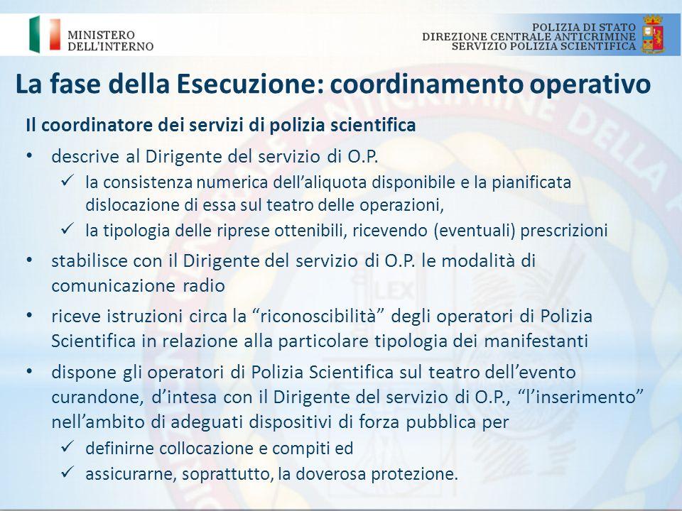 La fase della Esecuzione: coordinamento operativo