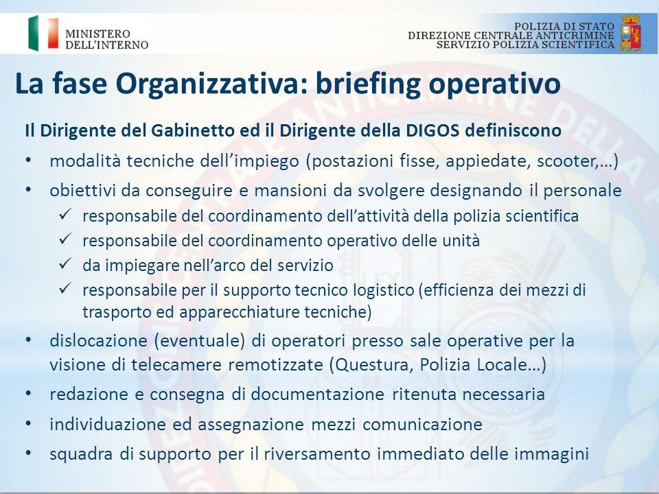 La fase Organizzativa: briefing operativo
