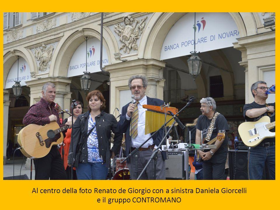 Al centro della foto Renato de Giorgio con a sinistra Daniela Giorcelli