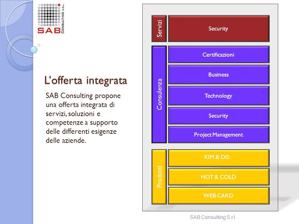 Security Prodotti. Servizi. Consulenza. Certificazioni. L'offerta integrata. Business. Technology.