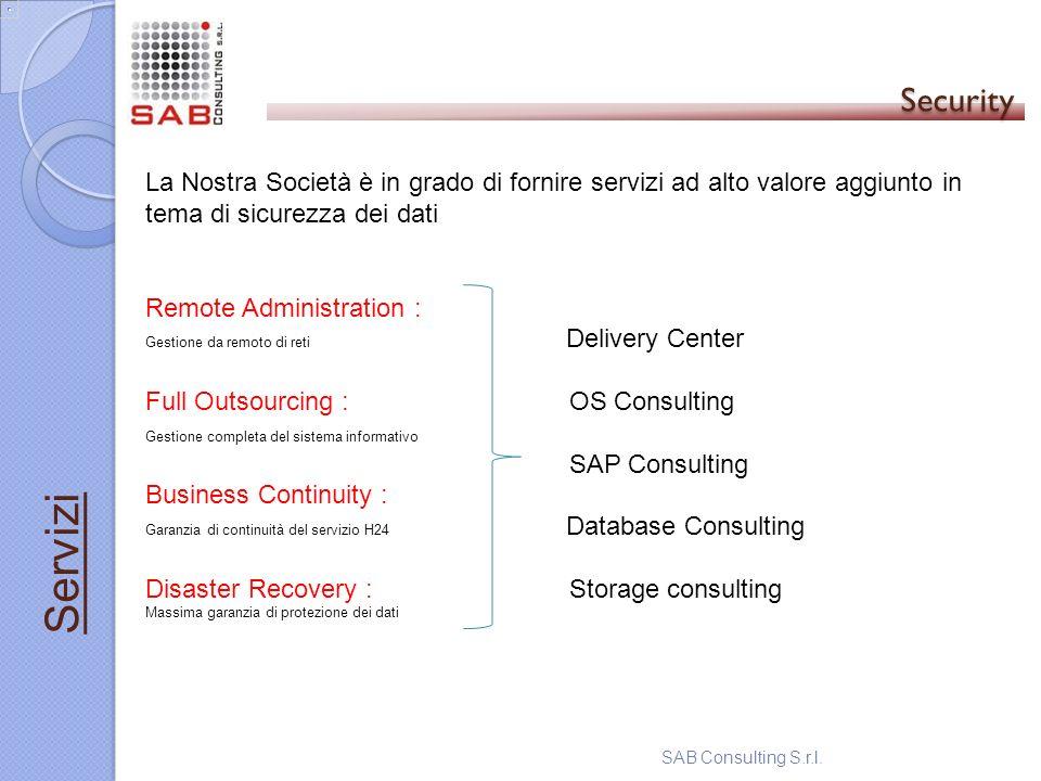60 Security. La Nostra Società è in grado di fornire servizi ad alto valore aggiunto in tema di sicurezza dei dati.