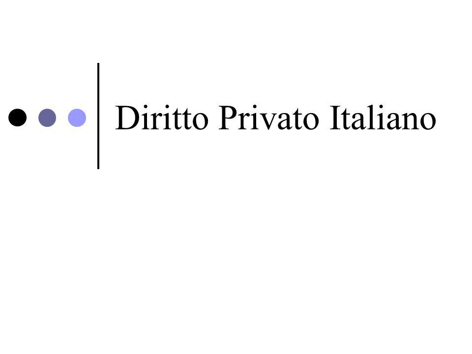 Diritto Privato Italiano