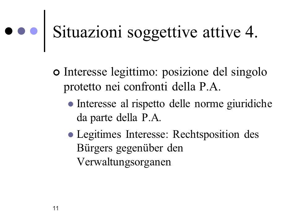 Situazioni soggettive attive 4.