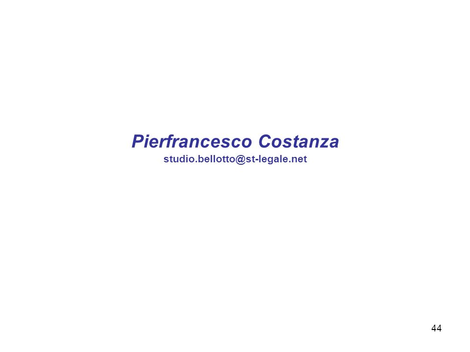 Pierfrancesco Costanza studio.bellotto@st-legale.net