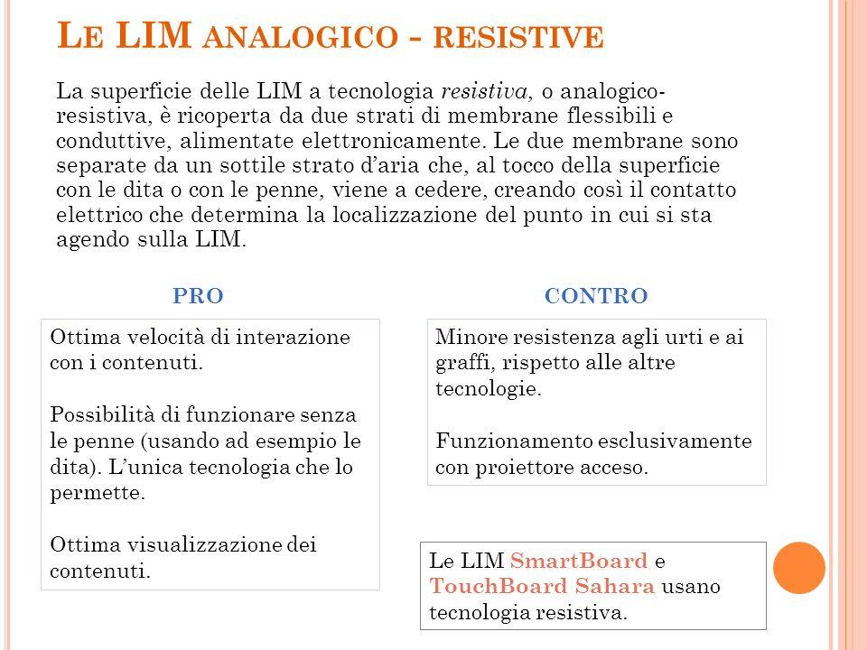 Le LIM analogico - resistive
