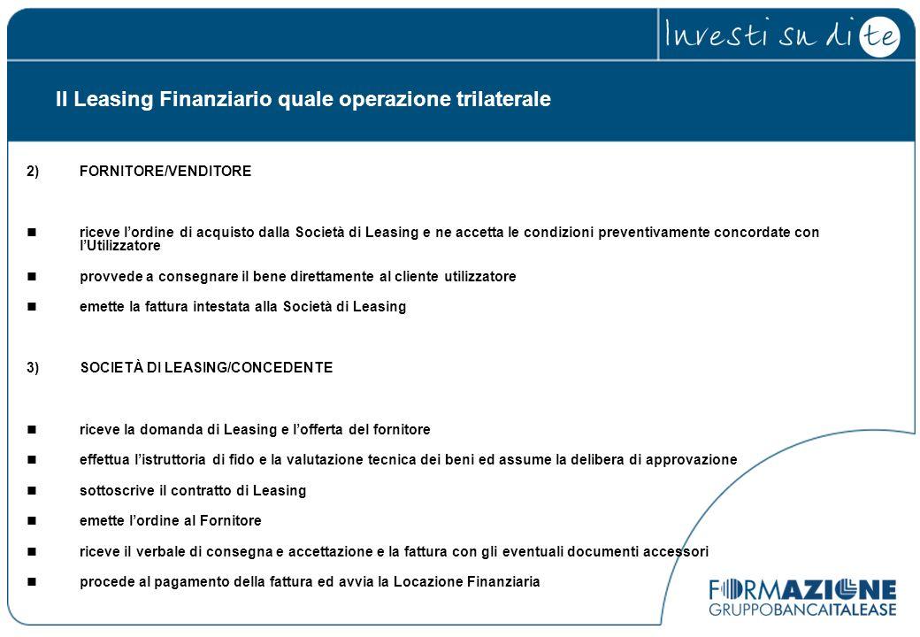 Il Leasing Finanziario quale operazione trilaterale