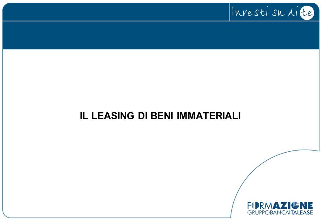 IL LEASING DI BENI IMMATERIALI