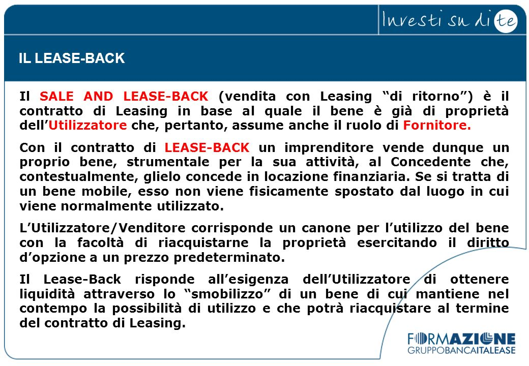 IL LEASE-BACK
