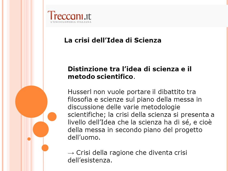 La crisi dell'Idea di Scienza