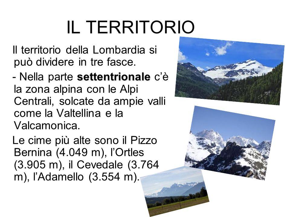 IL TERRITORIOIl territorio della Lombardia si può dividere in tre fasce.