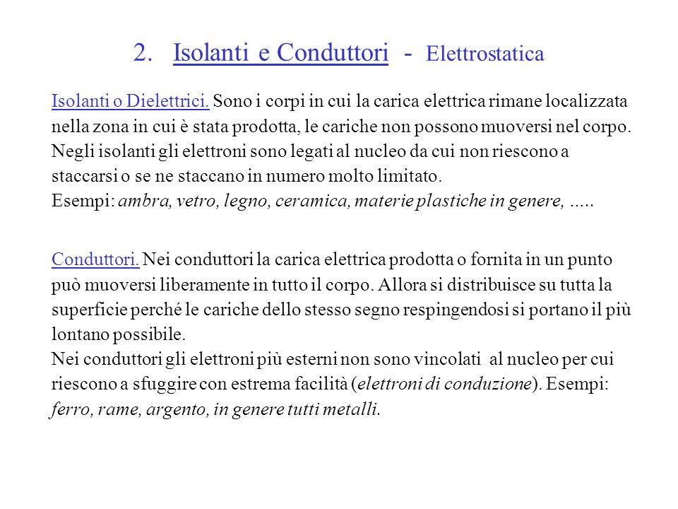 2. Isolanti e Conduttori - Elettrostatica