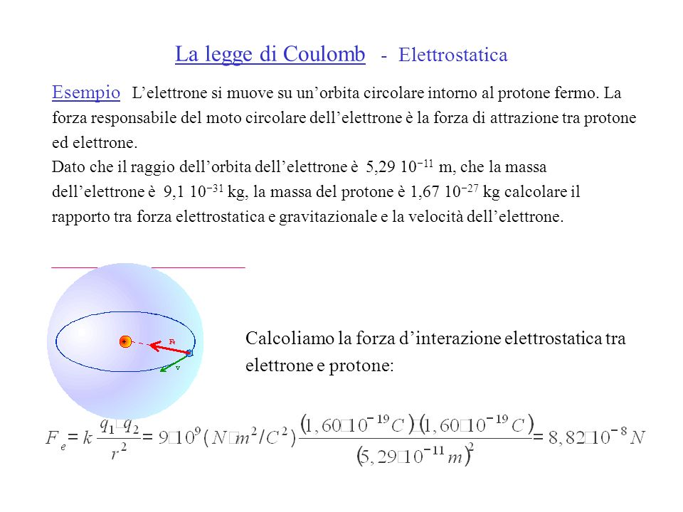 La legge di Coulomb - Elettrostatica