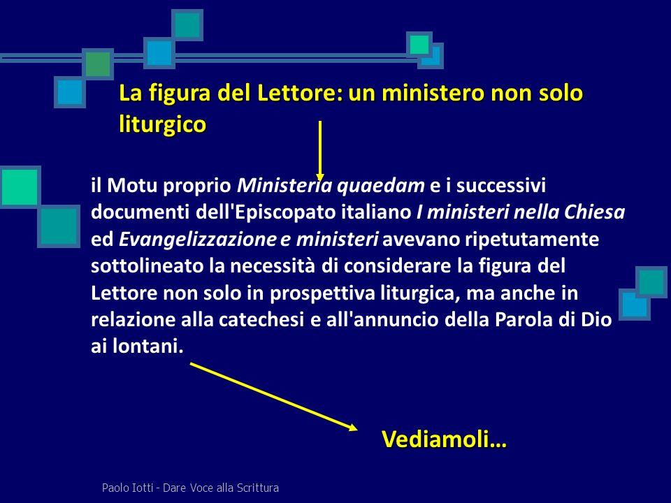 La figura del Lettore: un ministero non solo liturgico