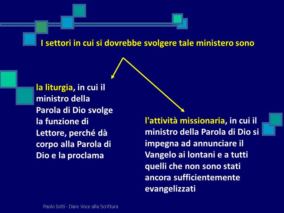 I settori in cui si dovrebbe svolgere tale ministero sono