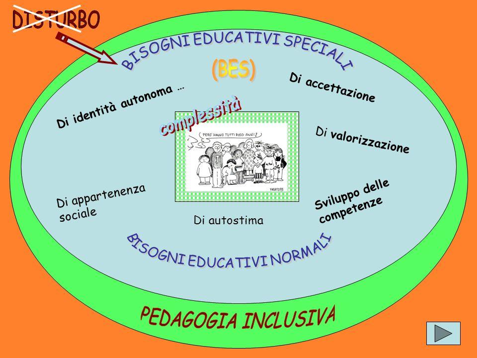 (BES) complessità PEDAGOGIA INCLUSIVA DISTURBO