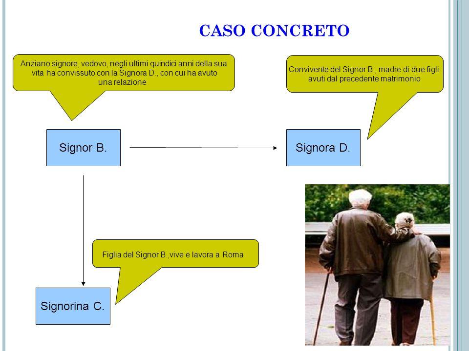 CASO CONCRETO Signor B. Signora D. Signorina C.