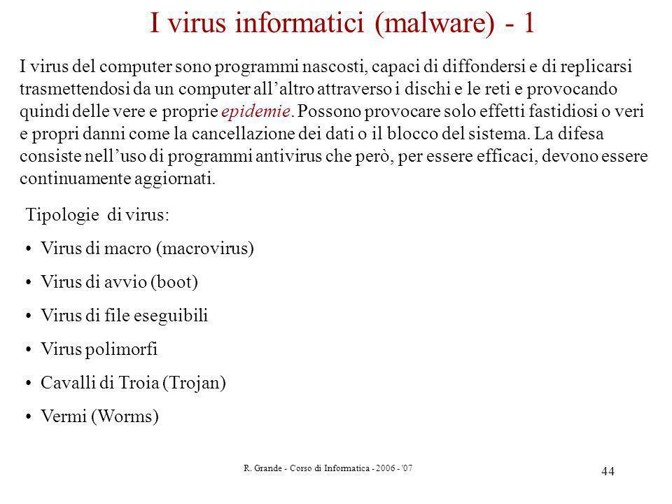 I virus informatici (malware) - 1