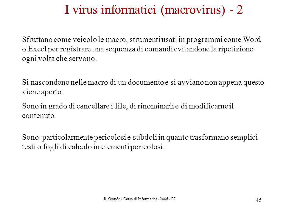I virus informatici (macrovirus) - 2