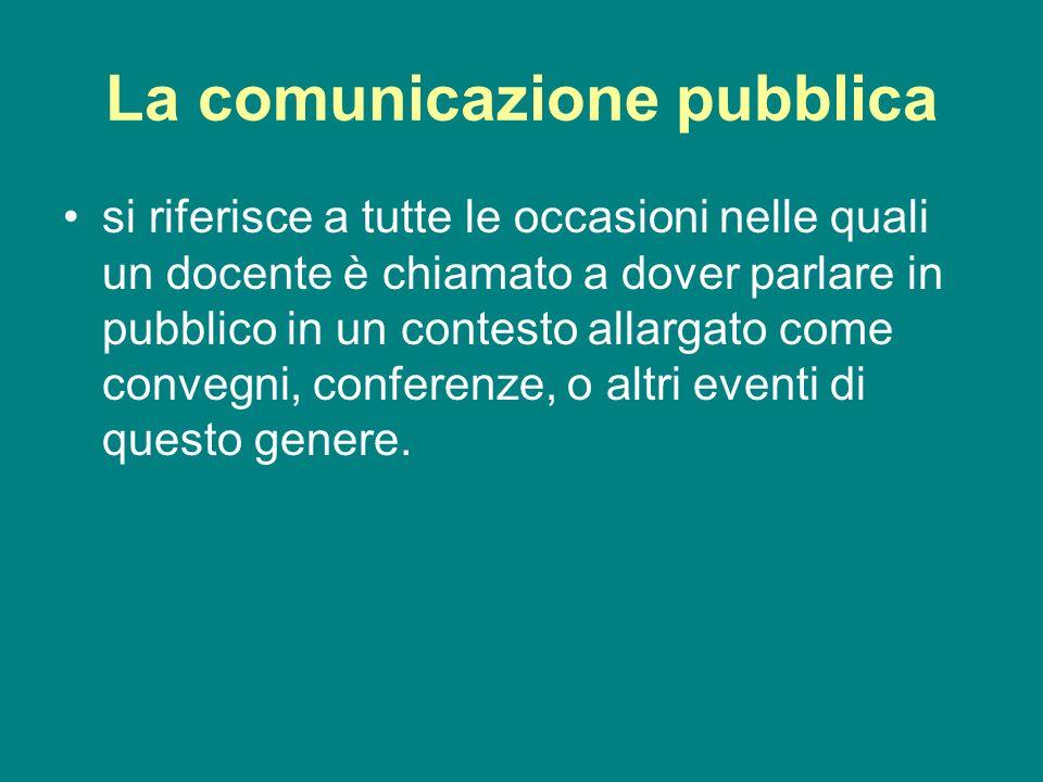 La comunicazione pubblica