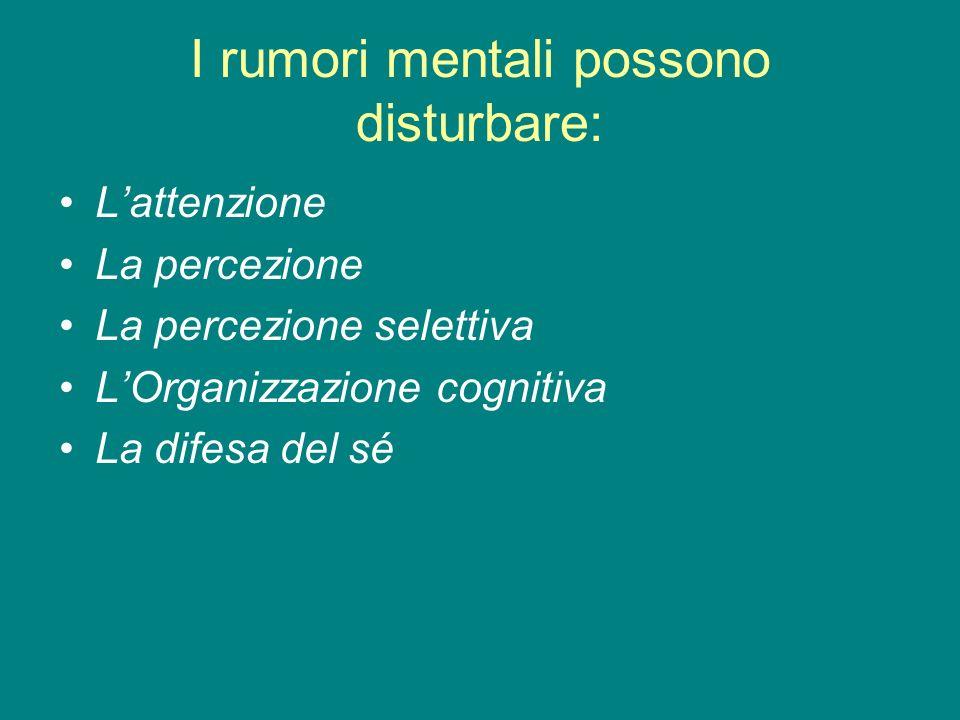 I rumori mentali possono disturbare: