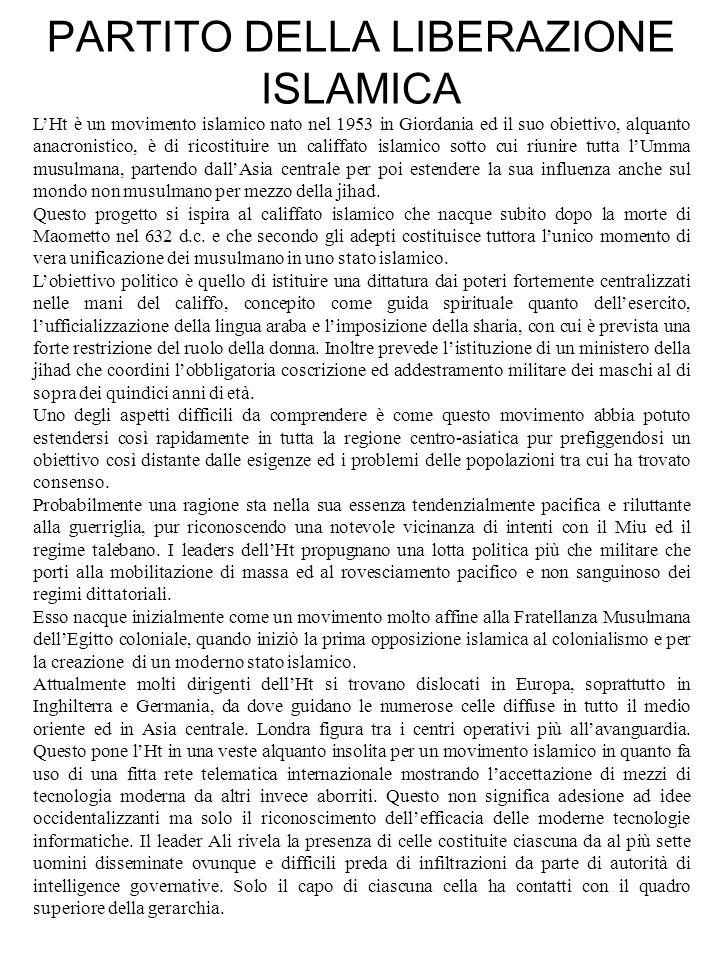 PARTITO DELLA LIBERAZIONE ISLAMICA