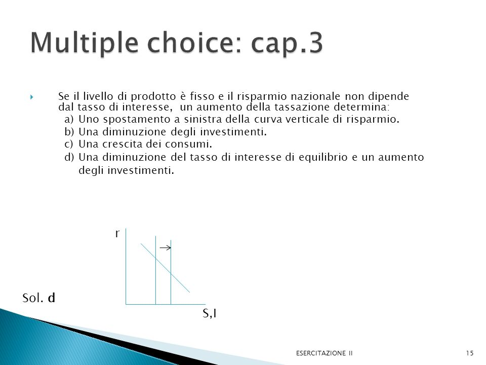 Multiple choice: cap.3 r Sol. d S,I