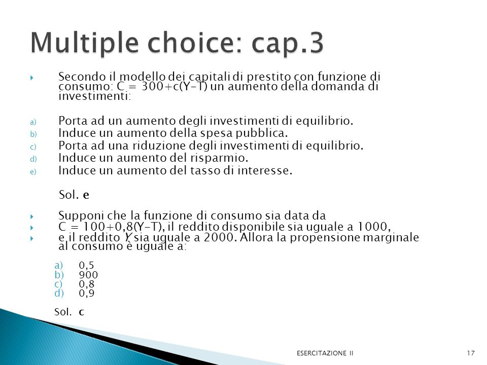 Multiple choice: cap.3