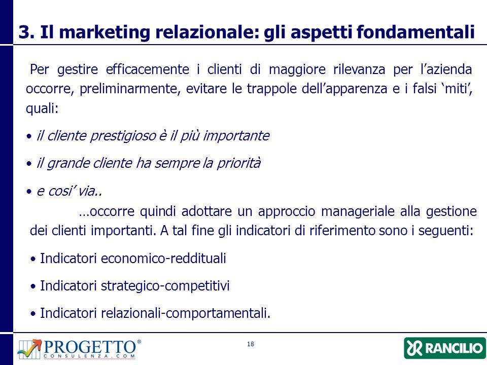 3. Il marketing relazionale: gli aspetti fondamentali