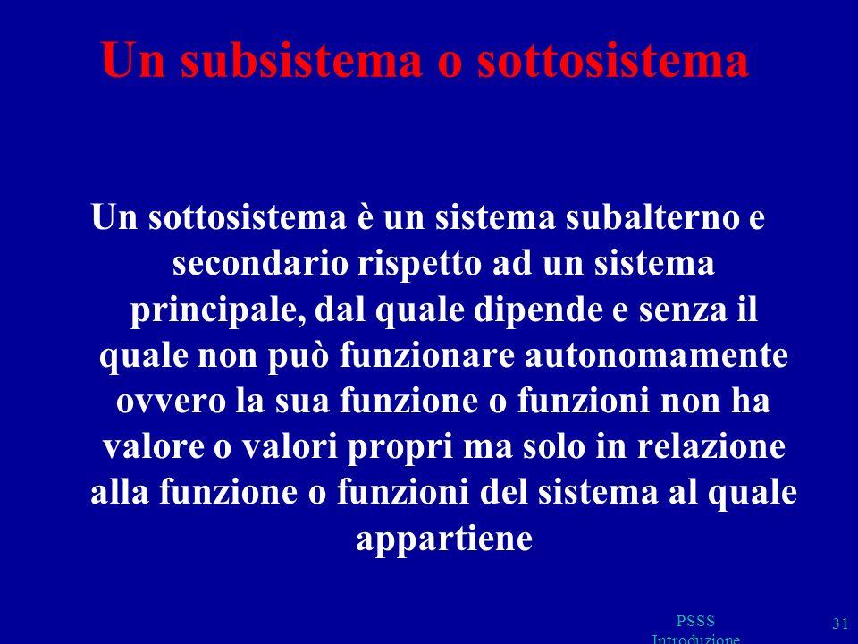 Un subsistema o sottosistema