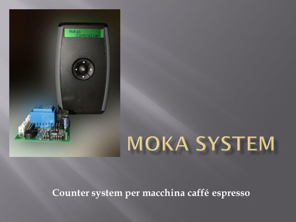 Counter system per macchina caffé espresso