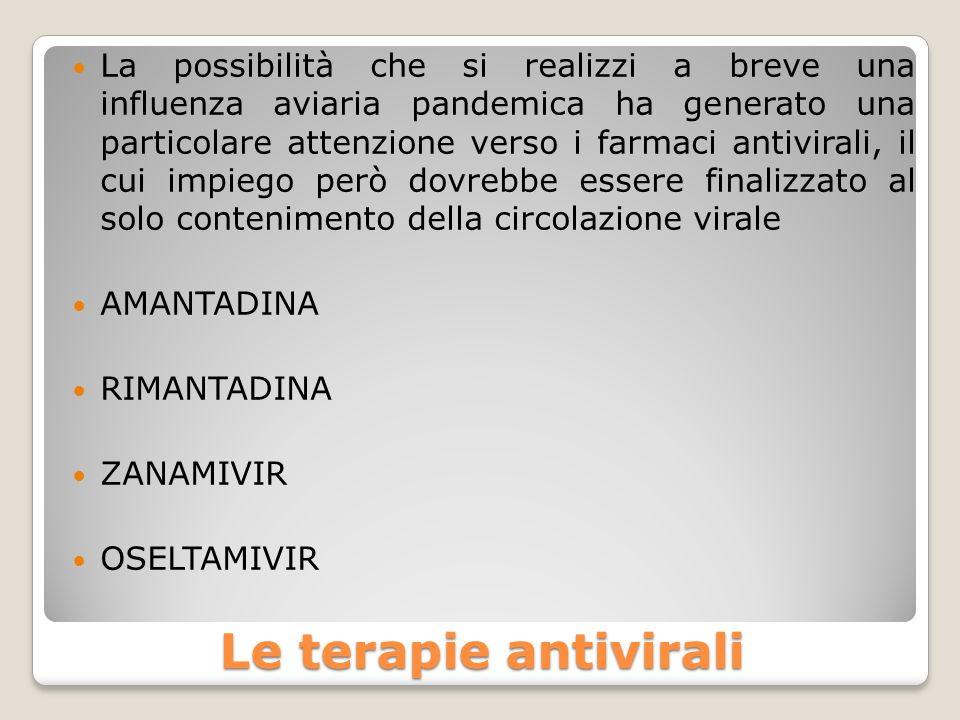 La possibilità che si realizzi a breve una influenza aviaria pandemica ha generato una particolare attenzione verso i farmaci antivirali, il cui impiego però dovrebbe essere finalizzato al solo contenimento della circolazione virale