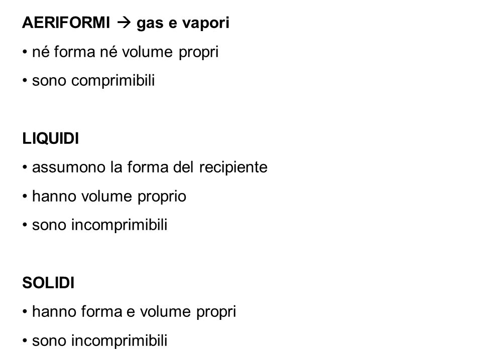 AERIFORMI  gas e vapori